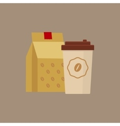 Take Away Coffee Simplified vector