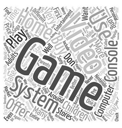 used video game systems text background wordcloud vector image