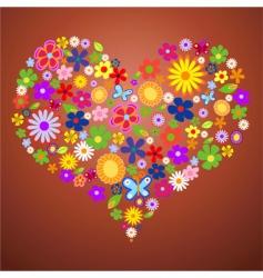 valentine flower heart2 vector image