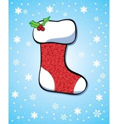 vintage christmas sock vector image