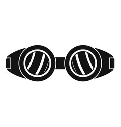welding glasses icon simple style vector image