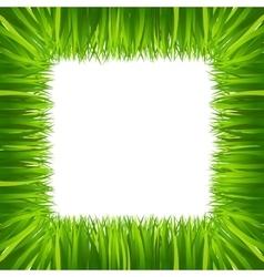 border frame green grass isolated on white vector image