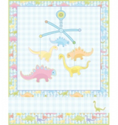 Card for baby boy vector