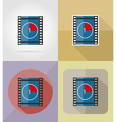 cinema flat icons 07 vector image