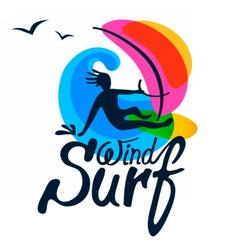 Surfer logo template vector image