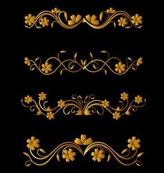 vintage flower elements vector image vector image