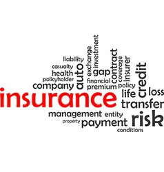 word cloud insurance vector image