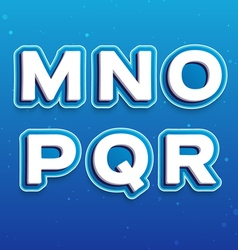 3D Font in Cartoon style with letters from M to R vector image vector image