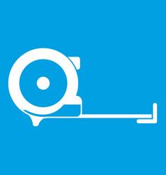 Construction roulette icon white vector