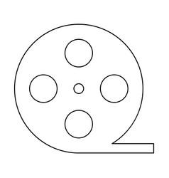 Film strip black color path icon vector