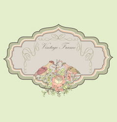 Floral background flower garden cover greeting vector