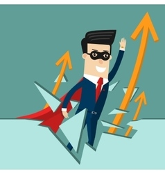 Global Success Business concept cartoon vector image