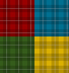 Lumberjack four color checkered square plaid vector image