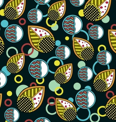 Abstract leaves endless seamless pattern dark vector