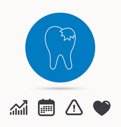 dental fillings icon tooth restoration sign vector image