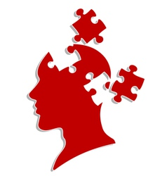 people head with puzzles vector image vector image