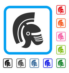 rome helmet framed icon vector image