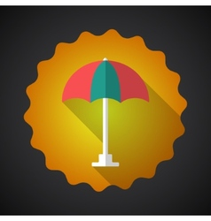 Summer Travel Umbrella flat icon vector image vector image