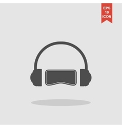 Virtual reality headset icon flat design vector image vector image