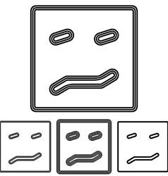 Black line disgust logo design set vector