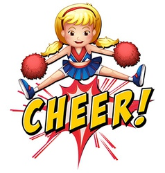 Cheer flash logo vector image vector image