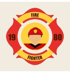 Fire fighter vector