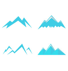mountains icons and symbols vector image