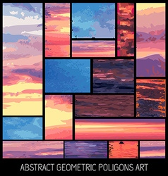 Set of geometrical abstract colrful backgrounds vector image