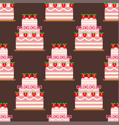 wedding cake pie sweets dessert bakery flat vector image vector image