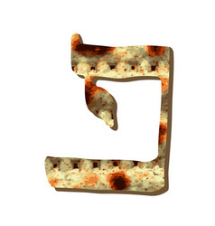 Alphabet hebrew passover matzah hebrew letter pei vector