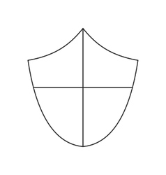 Ancient shield thin line icon vector image