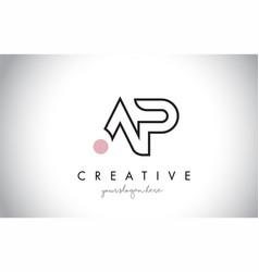 Ap letter logo design with creative modern trendy vector