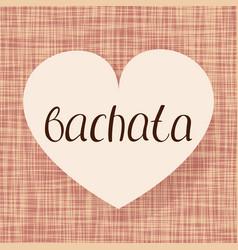 bachata dance vector image
