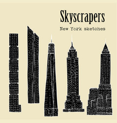 Background with skyscrapers vector