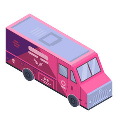 bakery food truck icon isometric style vector image