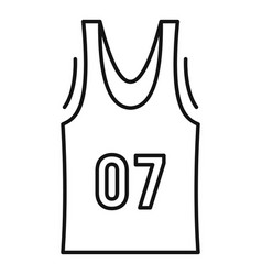Basketball vest icon outline style vector