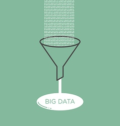 Big Data analysis filter funnel vector