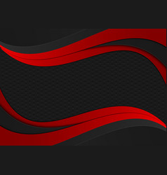 black and red color wave geometric texture vector image