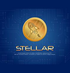 Blockchain stellar background style collection vector