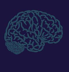 brain dots silhouette vector image