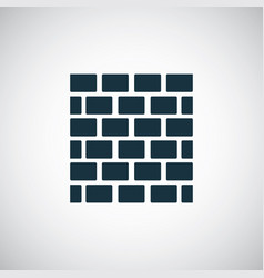 brick wall icon for web and ui on white background vector image