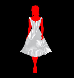 Bridesmaid silk dress vector