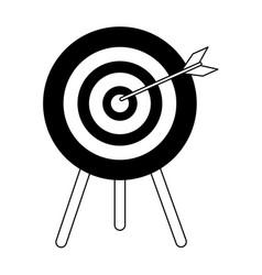 Bullseye with dart icon image vector
