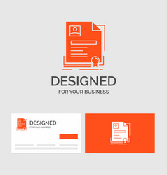 business logo template for contract badge vector image