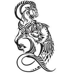 Capricorn zodiac tattoo vector