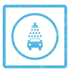 Car Shower Icon Rubber Stamp vector