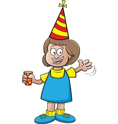 Cartoon Girl at Party vector