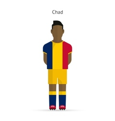 Chad football player Soccer uniform vector
