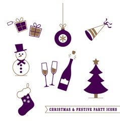 Christmas and Festive Icons vector
