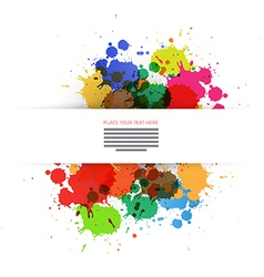 Colorful Blots Background vector image